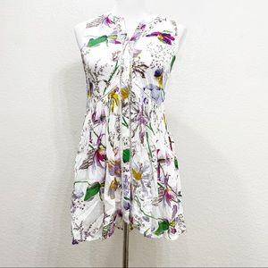 NWT Anthropologie Floral Sleeveless Dress Size XS